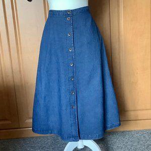 Denim Skirt Button Down Bon Worth XSP